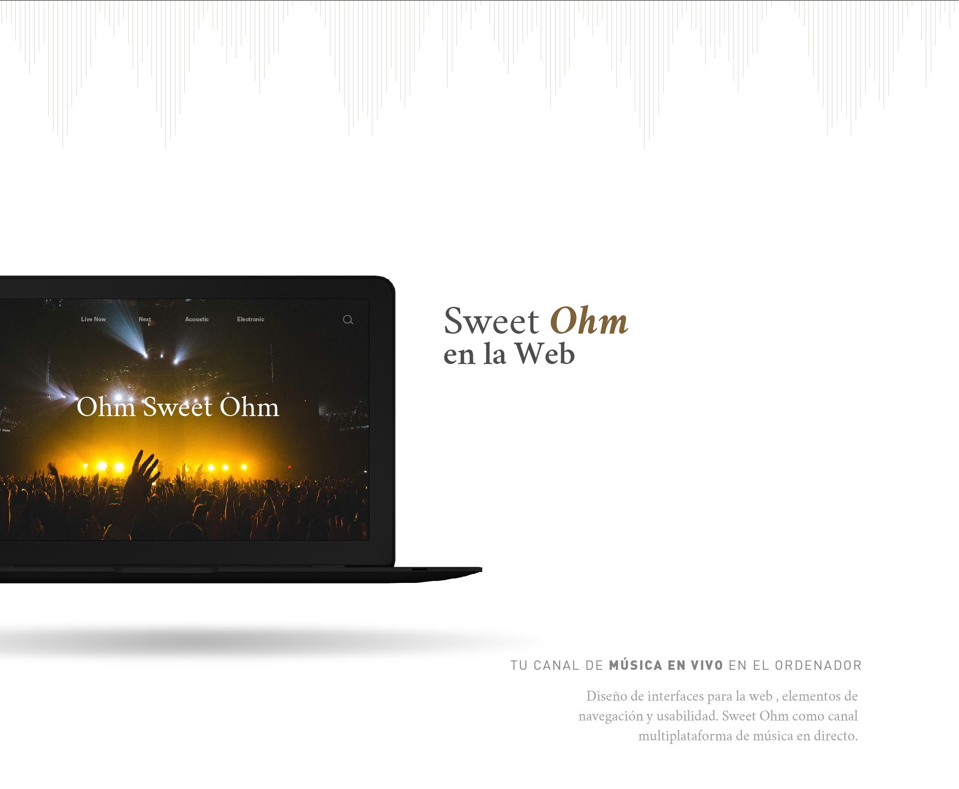 Branding y diseño web para Sweet Ohm por Binarid