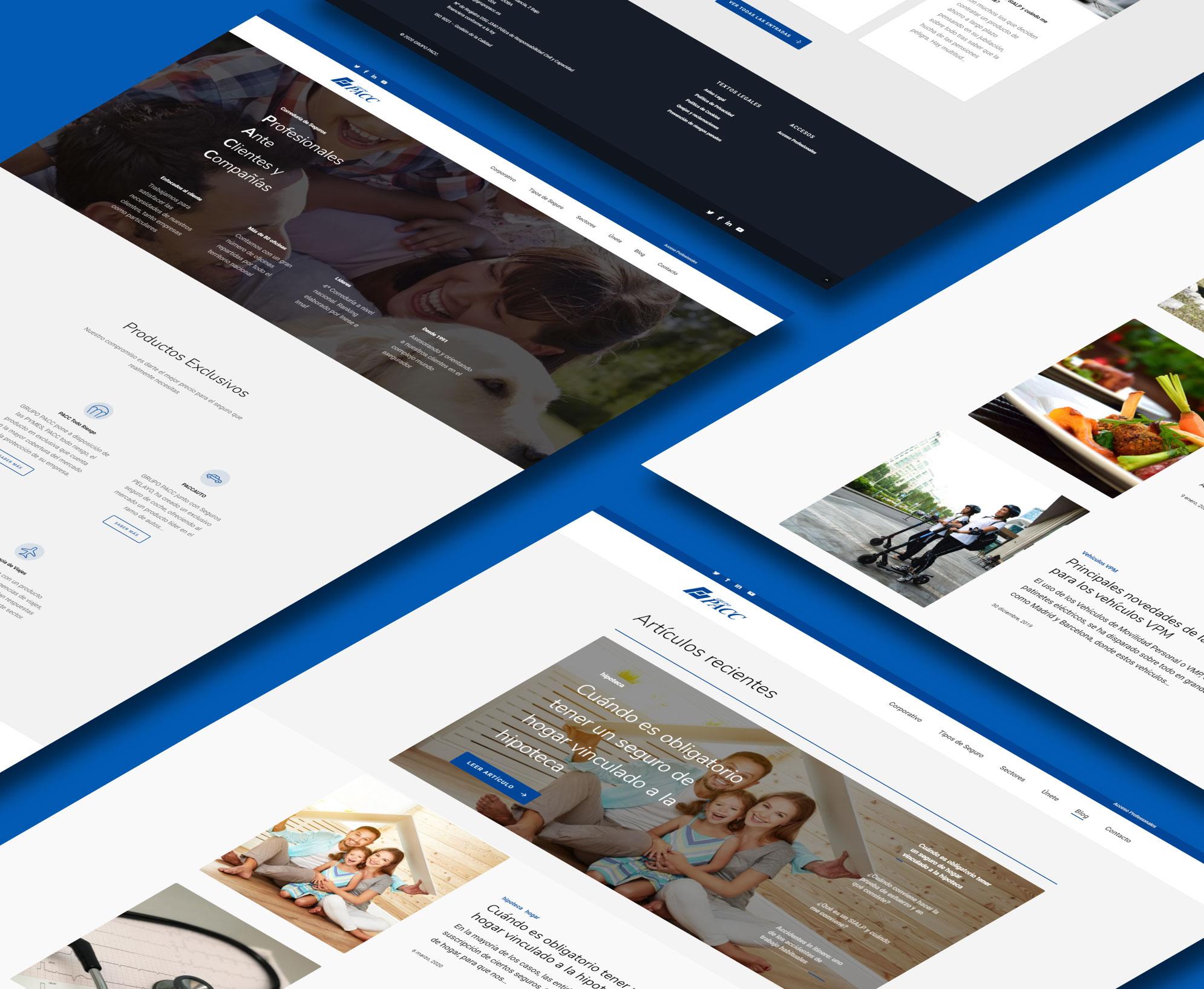 Web para GRUPO PACC (Cliente ModeOnTecno)